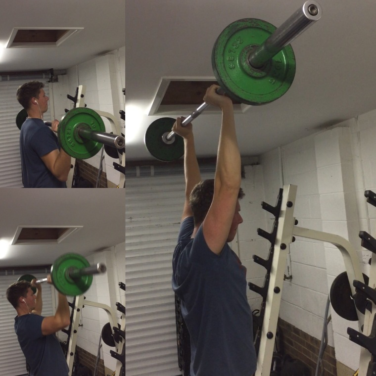 method golf fitness exercise barbell shoulder press