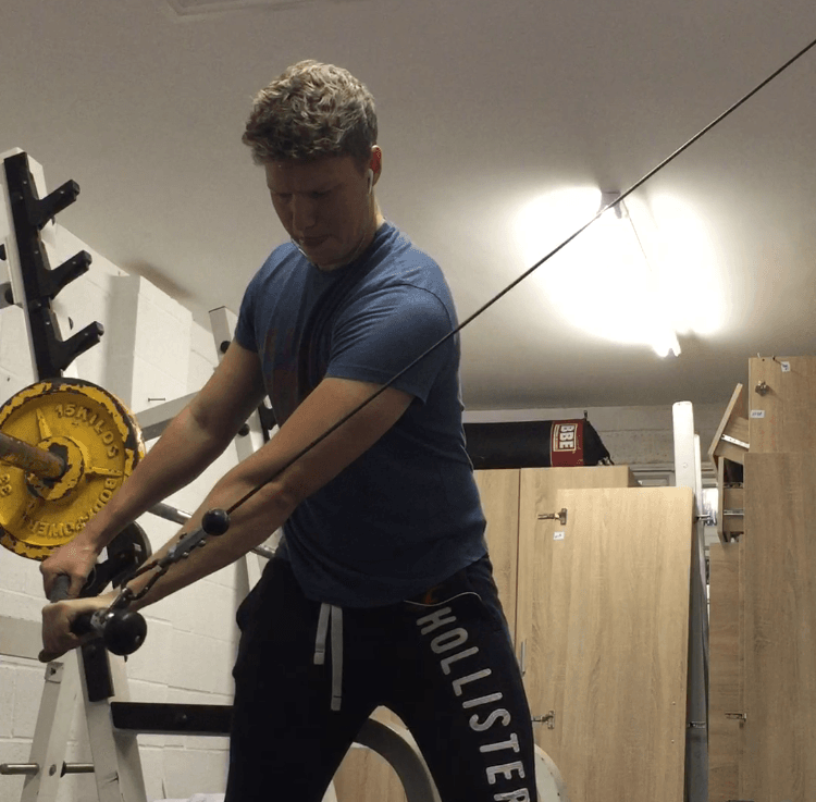 method golf finess exercises cable wood chop