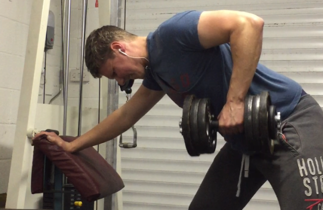 method golf fitness exercise one arm dumbbell row