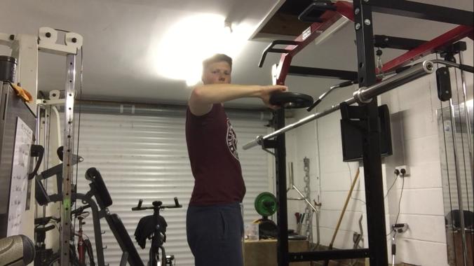 Golf exercise shoulder Rotations