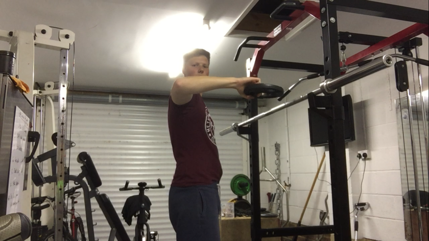 Golf exercise shoulder Rotations