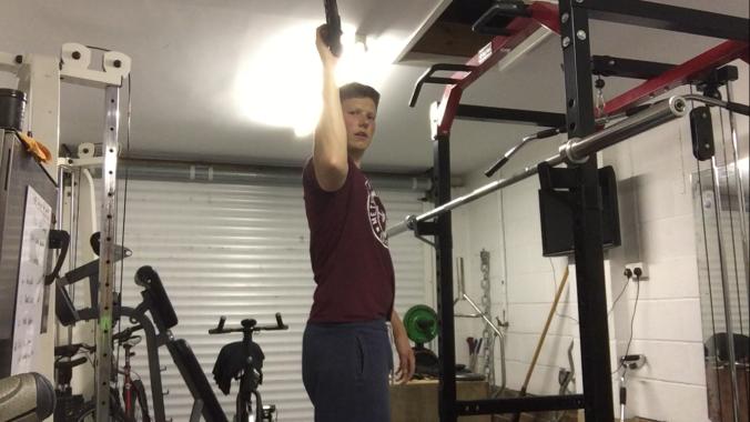 Golf exercise shoulder rotation